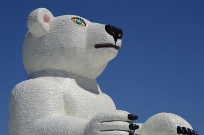 soku_35191.jpg :: 芸術 アート オブジェ モニュメント 熊 クマ シロクマ