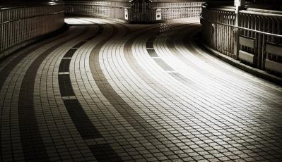 soku_35467.jpg :: 分かれ道 風景 街並み 都市の風景 夜景
