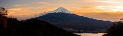 soku_35468.jpg :: 富士山 夕焼け 河口湖 紅葉 天下茶屋