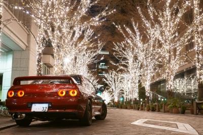 soku_35542.jpg :: 風景 郊外 車 ドライブ 夜景 GTR