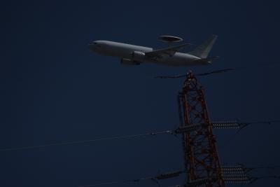 soku_36026.jpg :: 乗り物 交通 航空機 飛行機 軍用機 早期警戒管制機 E-767 AWACS
