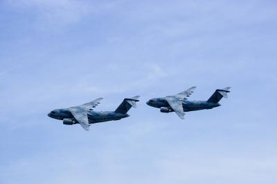 soku_36042.jpg :: 乗り物 交通 航空機 飛行機 軍用機 輸送機 C-1
