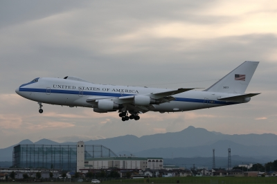 soku_36098.jpg :: 乗り物 交通 航空機 飛行機 軍用機 E-4B ナイトウォッチ 国家空中指揮機