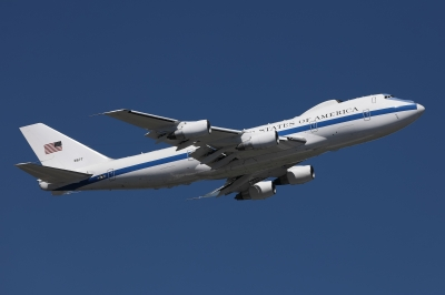 soku_36099.jpg :: 乗り物 交通 航空機 飛行機 軍用機 E-4B ナイトウォッチ 国家空中指揮機
