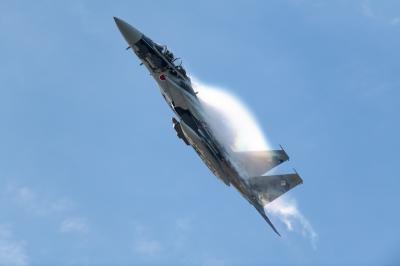 soku_36186.jpg :: 乗り物 交通 航空機 飛行機 軍用機 戦闘機 F-15DJ アグレッサー