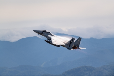 soku_36187.jpg :: 乗り物 交通 航空機 飛行機 軍用機 戦闘機 F-15DJ アグレッサー