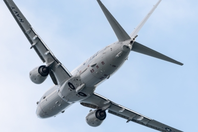 soku_36193.jpg :: 乗り物 交通 航空機 飛行機 軍用機 対潜哨戒機 P-8A ポセイドン