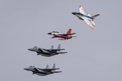 soku_36281.jpg :: 乗り物 交通 飛行機 軍用機 F-15J F-15DJ F-2A F-2B 岐阜基地航空祭 飛行開発実験団