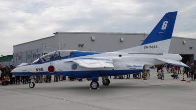 soku_36643.jpg :: 松島基地航空祭2019 ブルーインパルス T-4 乗り物 交通 航空機 飛行機 軍用機