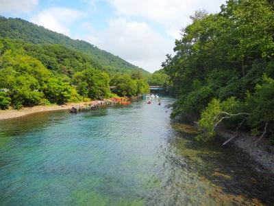 soku_36669.jpg :: 支笏湖から千歳川への流出部 カヌーの練習ができる